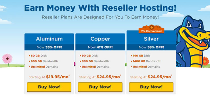 Hostgator Reseller Hosting Packages and features