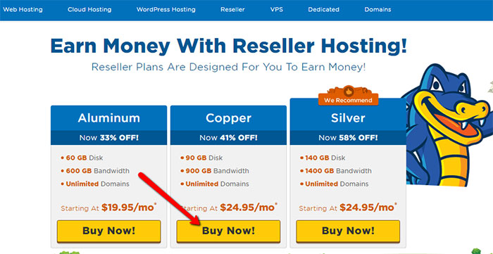 Step 1 - Choosing right Hostgator reseller hosting plan