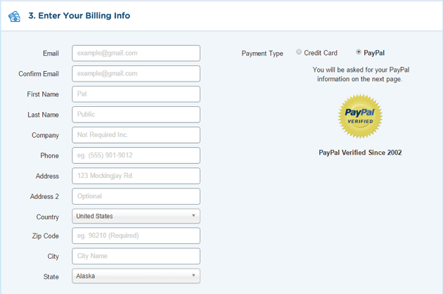 Step 5: Fill Billing details to complete the 1 penny offer