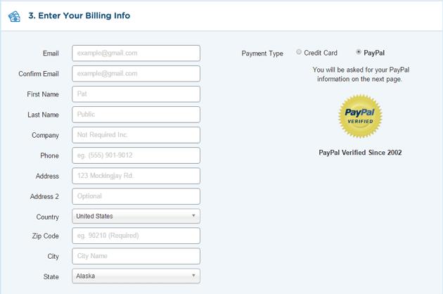 Enter Billing Details - Step 5
