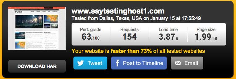test website hosted at iPage hosting