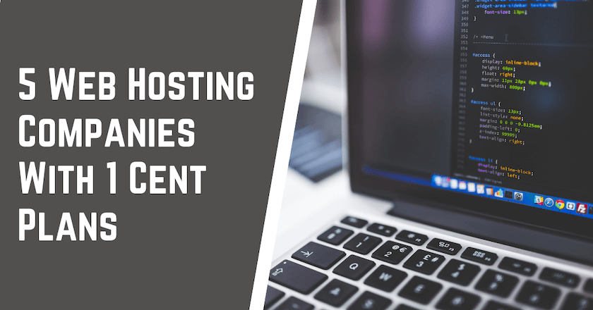 5 Web Hosting Companies With 1 Cent Plans